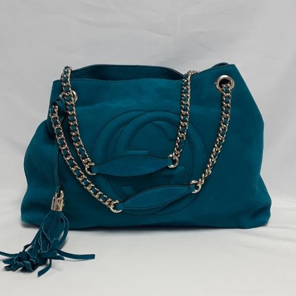 Gucci Handbags - New GUCCI 308982 suede Chain Strap shoulder bag